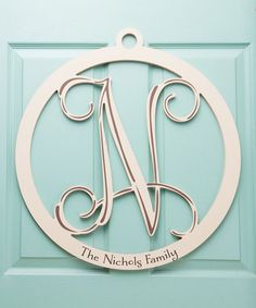 This Cream Wood Personalized Letter is perfect! #zulilyfinds