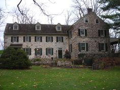 PA - Has to be Bucks County. I must have driven past hundreds of these homes growing up, some right down the road. Old Stone Houses, Old Houses, Farm Houses, Future House, My House, Bucks County, Classic House, Historic Homes, My Dream Home