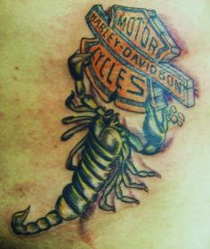 Harley-Davidson Scorpion Tattoo