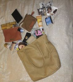 Check out what's in my bag when I headed to Essence Music Festival for my Crest appearances - huge fan of Linea Pelle!