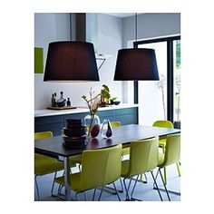 BERNHARD Stoel - verchroomd/Kavat groen/geel - IKEA