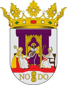 Coat of Arms of Sevilla - Escudo de Sevilla - Seville - Wikipedia, the free encyclopedia -This file is licensed under the Creative Commons Attribution-Share Alike 2.5 Generic license. Attribution: SanchoPanzaXXI