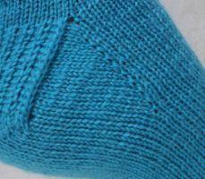 Носочки от мысика: плоский мысок и круглая пятка с укрепленной стенкой