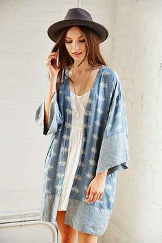 Thistlepearl Printed Kimono - Urban Outfitters