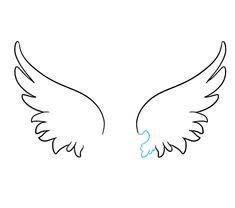 Resultado de imagem para easy to draw angel wings halo Angel Wings Art, Angel Art, Angel Drawing Easy, Angel Wings Drawing, Wings Sketch, Baby Tattoos, Tatoos, Wall Drawing, Tribal Tattoo Designs