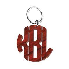 Monogram Acrylic Keychain $36
