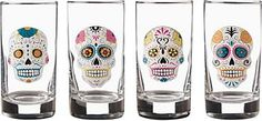 I've been obsessed with Sugar Skulls lately and I found these cute glasses at Paper Source. I MUST have them :)
