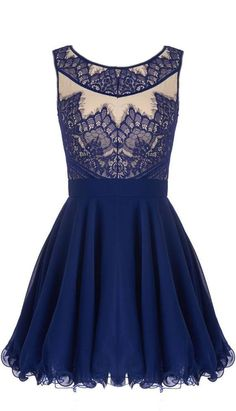 Navy Lace Dress ♥