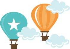 Hot Air Balloons SVG cut files for scrapbooking cardmaking hot air ballon svg file free svg cuts