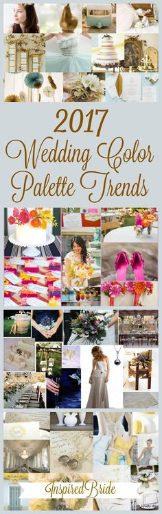Spring 2017 Wedding Color Palette Trends