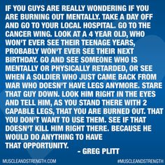 Motivation from Greg Plitt.
