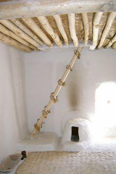Interior de una casa (reconstrucción) de la ciudad de Çatalhöyük, Anatolia (Turquía). Periodo Neolítico - Calcolítico, siglos VIII al VI a.C.