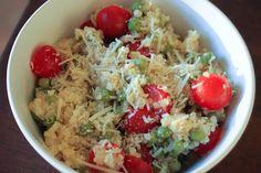 Lemon Parmesan Quinoa Salad