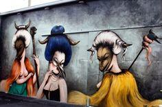MISS VAN _ Outdoor Mural _ Wynwood, Miami, USA