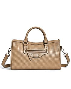 This satchel is a classic shape that will compliment any look.