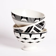 Sir/Madam Art Deco Au Lait Bowls. Available in assorted colours now at Drake General Store. #ModernMakers