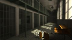 Empty jail scene.