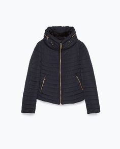 Image 6 of QUILTED COAT WITH FAUX FUR COLLAR from Zara