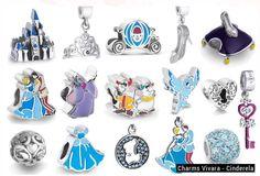 Vivara cinderella👗 Pandora Charms Disney, Pandora Bracelet Charms, Pandora Jewelry, Charm Jewelry, Charm Bracelets, Jewlery, Disney Princess Jewelry, Disney Jewelry, I Love Jewelry