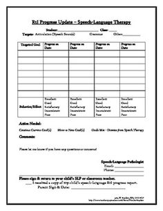 These are terrific speech therapy referral printable speech rti speech therapy progress report free pronofoot35fo Images