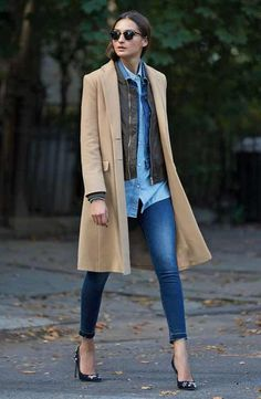 Helene Berman Coat, Steve Madden Jacket & J.Crew Jeans Outfit with Accessories