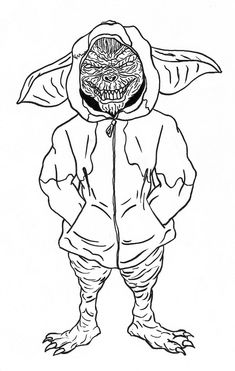 Gremlin Coloring Pages for Kids