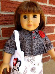 Veste plissé - patron de couture pour American Girl, Kidz n Cats, Sasha,