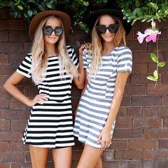 Stripe fever! ◼️◻️ Shop the Jennifer Playsuit at Peppermayo.com