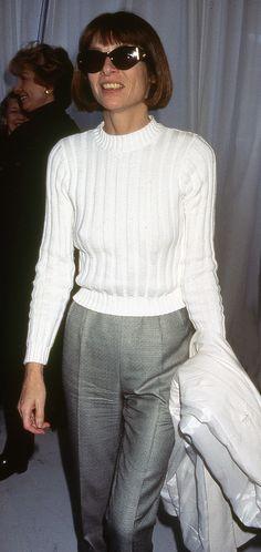 Anna Wintour at New York Fashion Week, 1996.
