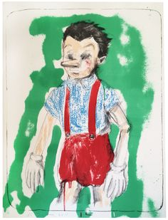 Paddle8: Pinocchio Coming from the Green - Jim Dine