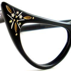 Vintage Cat Eye Glasses Eyeglasses by VintageEyeglassesCat on Etsy