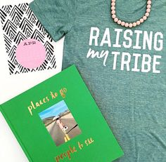 Raising My Tribe tee in Deep Mint   Little Adi + Co   #raisingmytribe   Click link to shop: http://www.littleadi.com/collections/adult/products/adult-tribe-deep-mint-tee