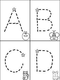 FREEBIE! Alphabet Mini Books for Tracking Letters Freebie