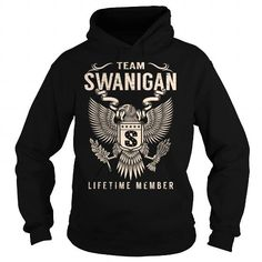 Cool Team SWANIGAN Lifetime Member - Last Name, Surname T-Shirt Shirts & Tees