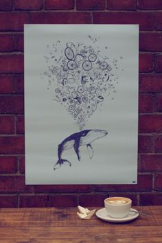 Oscar The Whale Limited-Edition Poster Penelo.pe x CycleLove
