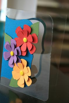 handmade card ... Cricut cuts ... luv the clear acetate card stock used here ... lovely layered flowers ... delightful card!!