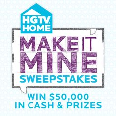 Bring it all home — the ideas, the inspiration and the designer with HGTV HOME's high quality on-trend home products. Art Van, Cash Prize, Hgtv, Home Crafts, Giveaways, Don't Forget, Diy Ideas, Bring It On, Thankful