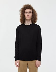 Buy the Acne Studios Nami Crewneck Sweater in Black at Need Supply Co. Need Supply Co, Pullover, Mens Sale, Cotton Lace, Sweater Shirt, Acne Studios, Long Sleeve Shirts, Crew Neck, Turtle Neck