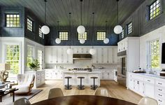 """2,261 Likes, 30 Comments - Architectural Digest (@archdigest) on Instagram: """"A bright idea: In this family compound in East Hampton, designer @danscottidesign and the…"""""""