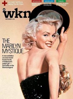 """WKN - September 7th 2012, magazine from Dubai. Front cover photo of Marilyn Monroe in a publicity pose for """"Gentlemen Prefer Blondes"""", 1953"""