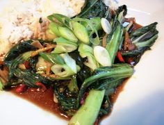 Pak Choi Stir Fry Recipe - Virtually No Fat! Loved it! Best Wok, Slimming Recipes, Amazing Greens, Crockpot Dishes, Asian Recipes, Asian Foods, Stir Fry Recipes, Special Recipes, Other Recipes