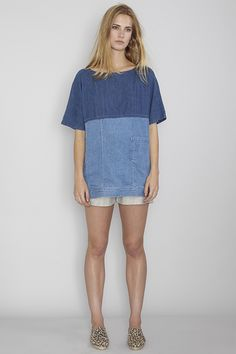 RACHEL COMEY | Shelter Tunic // DRESS UP | Sportif Linen Shorts| // PRISM | Leopard Print Leather Espadrilles MyChameleon