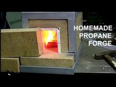 Homemade propane forge for blacksmithing/Gazowy piec kowalski