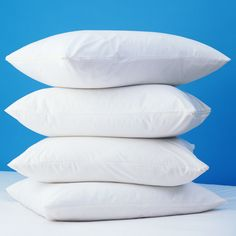 Zippered Polyester Pillow Protector in Off-White
