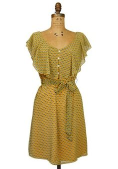 I very want things that are mustard with subtle prints. And fluttery deco sleeves.