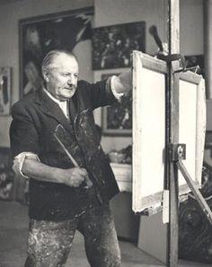 Hans Hoffman.... el que usaba traje para pintar con la palma de las manos... #Aniversario