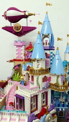 [MOC] Happily Ever After Park - LEGO Licensed - Eurobricks Forums Lego Disney Castle, Lego Disney Princess, Lego Castle, Princess Zelda, Bed For Girls Room, Frozen Castle, Baby Alive Dolls, Lego Design, Lego Models