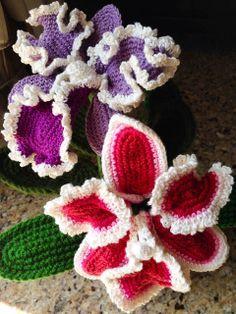 Crochet and More : Cattleya Orchid Crochet Flower FREE