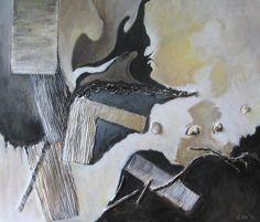 Petertje, schilderij van Gerda Kwakkel | Abstract | Modern | Kunst
