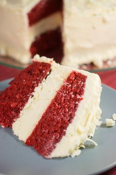 Better Than Cheesecake Factory Red Velvet Cheesecake | Yum! This cake recipe is perfect for your next party or potluck!